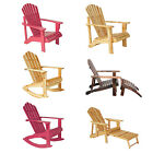 Garden Patio Adirondack Chair Armchair Wooden Wood Rocking Chairs Sun Loungers