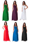 Formal Dress Bridesmaid Wedding Party V-Neck Full Length Evening Gown S - 4XL