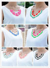 Korean Women Gift Acrylic Oval Bubble Fringe Bib Statement Party Choker Necklace