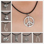 Retro Adjustable Silver Pendant Pentacle Choker necklace Pagan Gothic Jewellery