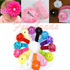 1pc Cute Kid Baby Girl Daisy Headband Hair Band Flower Clip Headwear Crochet