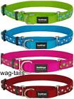 Red Dingo Patterned Nylon Martingale Dog Collars Small Medium Large Choke