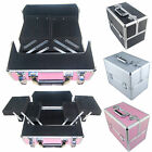 Pro Alu Beauty Make up Nail Salon Cosmetic Jewellery Storage Box Vanity Case UK