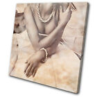 Fashion Vintage Sexy female SINGLE CANVAS WALL ART Picture Print VA