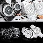 New Woman Stylish Quartz Analog Watch with Jewelry or not Black White CSUG