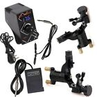 tattoo kit , 2 ROTARY  MACHINE + foot pedal + clip cord  + LCD power supplies