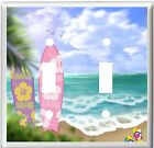 TROPICAL PALM TREE SURFBOARDS FLIP FLOPS ON BEACH LIGHT SWITCH COVER PLATE K 1