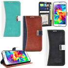 Luxury Leather ID Card Wallet Stand Case Cover for Samsung Galaxy S5 i9600
