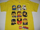 "New Lego Movie shirt boys size XS-L ""The gang"" Emmet, Wyldestyle, cop faces"