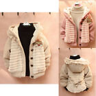 BNWT Baby Girls Kids Fur Warm Cardigan Jacket Coat Knit Sweater Clothes Outwear
