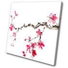 Floral Cherry blossom SINGLE CANVAS WALL ART Picture Print VA