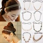 Elastic Headband Vintage Head Chain Rhinestone Hair Accessory Fashion Jewellery