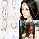 Hot Fashion Womens BOHO Metal Head Chain Headband Head Piece Hair Band Jewellery
