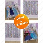 DISNEY FROZEN BEDROOM DUVET COVERS & MATCHING CURTAINS – TWO DROP LENGTHS