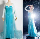 Купить Halloween Ladies Frozen Elsa Queen Princess Blue Party Dress Adult Costume S-XXL с доставкой по россии и снг