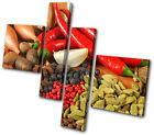 Food Kitchen Spices Peppers MULTI CANVAS WALL ART Picture Print VA