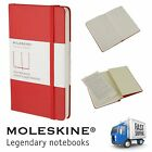 Moleskine Red Plain Classic Notebooks Writing Journal Moleskin Hard Back