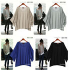 Women Sexy Loose Kimono Batwing Blouse Tops shirt T-shirt UK8-20 S,M,L,XL D267