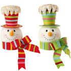 Snowman Head Christmas Tree Topper Decoration mb sp 3416360 NEW RAZ candycolor