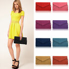 Top Quality Big Envelope Clutch  Genuine Real Suede Leather Shoulde