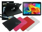 Swivel Leather Case+Screen Protector+Cleaner Pad for Samsung Galaxy Tab 4 10.1