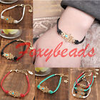 Fashion Jewelry Gold Tone Charm Hamsa hand Good Luck Evil Eye Rope Bracelet HOT