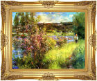 Framed The Seine at Chatou Pierre Auguste Renoir Painting Repro Canvas Art Print