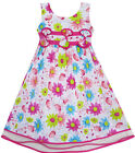 Girls dress Sun Flower Layers Trimmed Party Birthday Kids Clothes 4-12 New