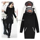 Womens Junior Leopard Hoodie Sweater Jumper Long Sleeve Pullover Girl AU Style
