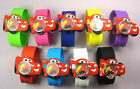 Disney Pixar Cars Lightning Slap Snap On Silicone Sports Quartz Wrist Watch Kids
