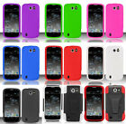 ZTE Flash N9500 (Sprint) Phone Cover SILICONE SKIN / HYBRID T-STAND Case