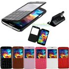Fashion PU Leather Folding View Cover Stand Skin Case for Samsung Galaxy S5 SV