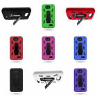 For LG Optimus L90 Protective Hard Soft  Hybrid Armor Phone Cover Case