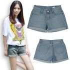 New Women Girls Retro Casual Crimping Frayed Boyfriend Shorts Pants Denim Jeans