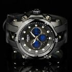 INFANTRY Police Style Sport Chrono Quartz Mens Luminous Wrist Watch Black Rubber