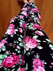 PINK ROSES FLORAL leggings COTTON Zenobia L PLUS 1X 2X 3X