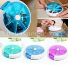 7 Day Round Pill Box Medicine Tablet Storage Holder Vitamin Dispenser Organizer