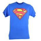 DC Comics Superman Oversized Logo Tshirt Man of Steel Super Hero Tee Blue