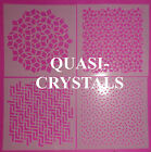 STENCIL SET OF FOUR QUASI-CRYSTALS SERIES BUY FOUR OR JUST ONE IMAGINE CREATE