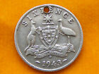 VARIOUS VINTAGE AUSTRALIAN COIN SIX PENCE / 5 / THREE PENCE