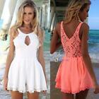 Sexy Women Celeb Lace Playsuit Party Evening Summer Ladies Dress Jumpsuit Shorts