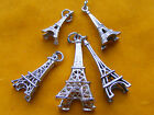 VARIOUS VINTAGE STERLING SILVER CHARM EIFFEL TOWER PARIS