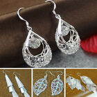 Girls Elegant Three Layer Dangling Ear Pendant Silver Plated Earrings Eardrops