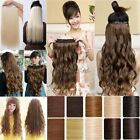 Full Colours Straight Wavy Clip In Hair Extensions Full Head Women Preference