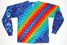 Adult L/S plus sizes TIE DYE Rainbow DNA / Long Sleeve T Shirt art grateful dead