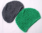THICK GREEN Rayon Hair Snood / Hair Net Kufi Medieval Renaissance LARP
