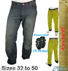 Mens Blue Motorcycle Kevlar Jeans Fully Lined 300GSM Protective Pants Finn Moto