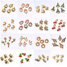 5PCS Mixed Gold Plated Enamel Christmas Gifts Charms FOR Pendant/Bracelet Gifts