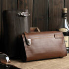 New Men's Real Leather Business Briefcase Handbag Clutch Card Bags Wallet  AR172