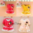 Autumn Formal Toddlers Baby Girls Princess Cotton Party Tops Coat Kids Clothes